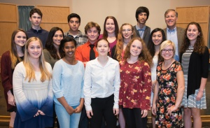 Poetry Out Loud participants 2016