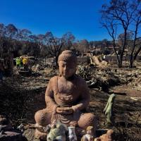 Ed Coletti's buddha, after the fire